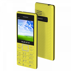 Maxvi C7 yellow-black